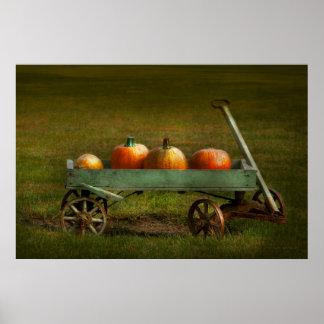 Autumn - Pumpkins - Free ride Posters