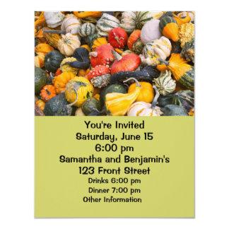 Autumn Pumpkins, Gourds and Squashes 4.25x5.5 Paper Invitation Card
