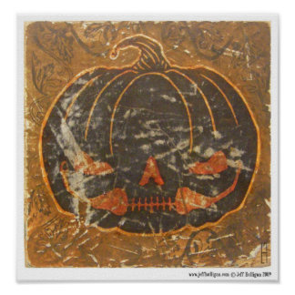 Autumn Pumpkin's Smile Poster