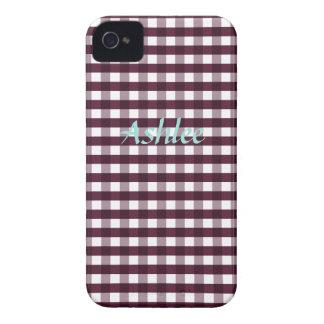 Autumn Purple Gingham iPhone 4/4s Case