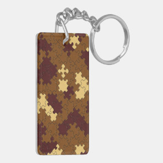 Autumn Puzzle Pattern Acrylic Keychain