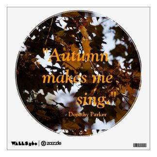 Autumn Quote Sticker Wall Skin