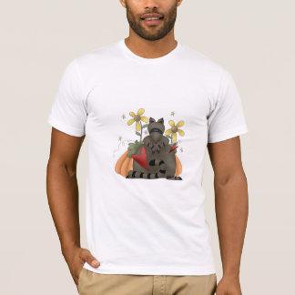 Autumn Racoon T-Shirt by Trina Clark