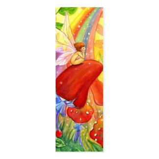 Autumn Rainbow Bookmark Business Card Template