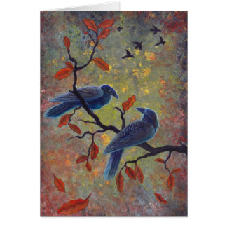 Autumn Ravens Card
