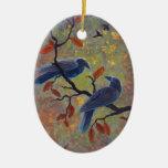 Autumn Ravens Ornament
