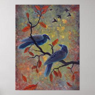 Autumn Ravens Poster