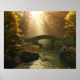 Autumn Rays (3D Art) Poster