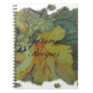 Autumn recipes notebooks