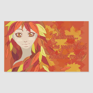 Autumn Rectangular Sticker