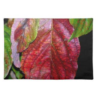 Autumn Red Dogwood Leaf Place Mat