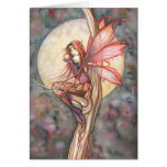 Autumn Red Fairy Greeting Card by Molly Harrison