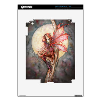 Autumn Red Fantasy Fairy Custom Skin Decal For The iPad 2