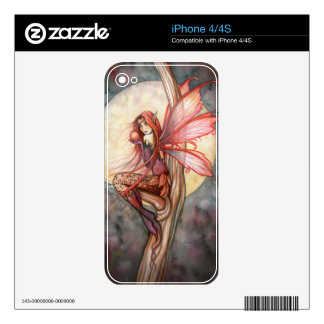 Autumn Red Gothic Fantasy Fairy iPhone Skin Decals For The iPhone 4