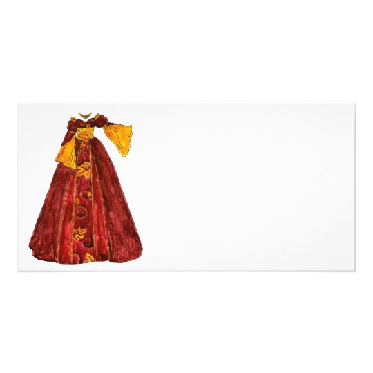 Autumn Red Gown Card