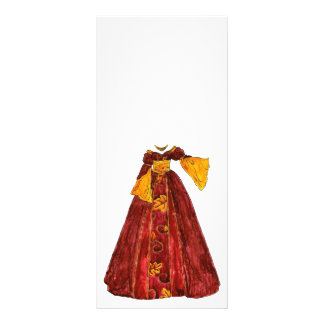 Autumn Red Gown Rack Card