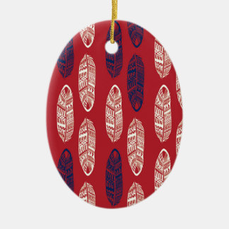 Autumn Red Leaves - Missing You Ceramic Ornament