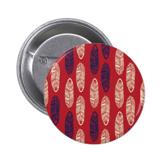Autumn Red Leaves - Missing You Pinback Button