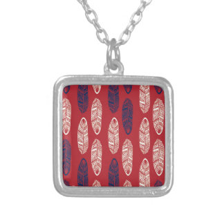 Autumn Red Leaves - Missing You Square Pendant Necklace