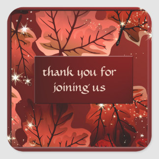 Autumn Red Maple Leaves Custom Sticker