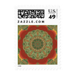 Autumn Red Maple Leaves Kaleidoscope Stamps 2