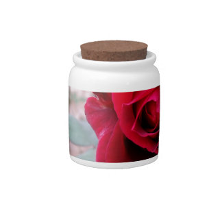 Autumn red rose candy dish