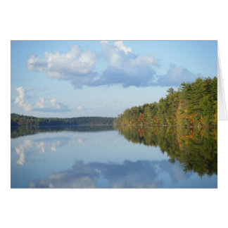 """Autumn Reflections at Long Pond"" Stationery Note Card"