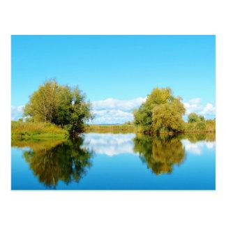Autumn reflections - Postcard