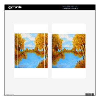 Autumn Reflections Skin For Kindle Fire