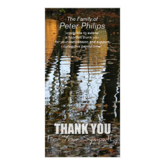 Autumn Reflections Sympathy Thank You Photo card