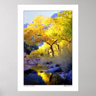 Autumn Reflections - Virgin River, Utah Print