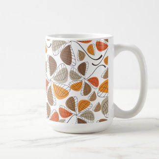 Autumn Retro 5 Leafed Clovers Coffee Mug