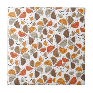 Autumn Retro Pattern 12 Ceramic Tile