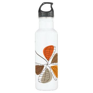 Autumn Retro Pattern 14 24oz Water Bottle