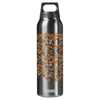 Autumn Retro Pattern 2C 16 Oz Insulated SIGG Thermos Water Bottle