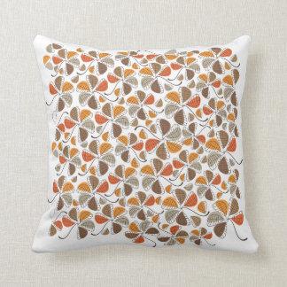 Autumn Retro Pattern 3 Throw Pillow