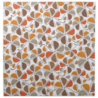 Autumn Retro Pattern 5 Printed Napkin