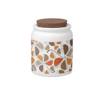 Autumn Retro Pattern 8 Candy Jars