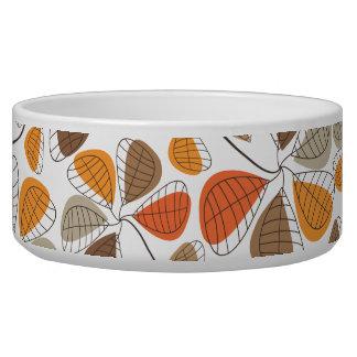 Autumn Retro Pattern Dog Bowls