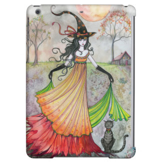 Autumn Reverie Witch Cat Fantasy Art iPad Air Cover