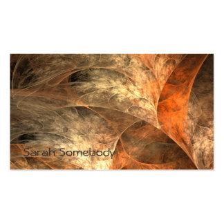 Autumn Riches Fractal Art profile Card Business Cards