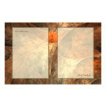 Autumn Riches Fractal Art Stationery Paper