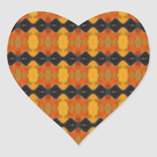 Autumn Ripple Heart Sticker