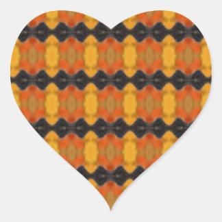 Autumn Ripple Heart Sticker