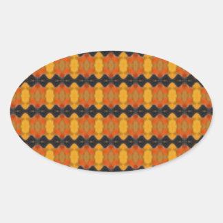 Autumn Ripple Oval Sticker