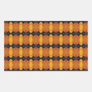 Autumn Ripple Rectangle Sticker