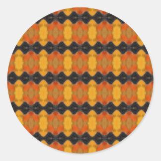 Autumn Ripple Round Sticker