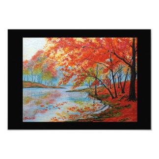 Autumn River 3.5 x 5 Notecard