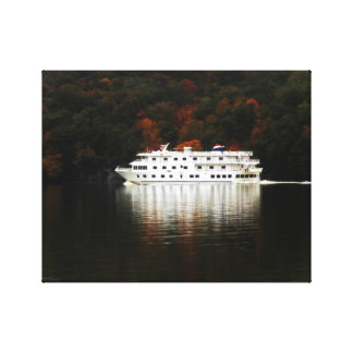Autumn River Cruise Canvas Print