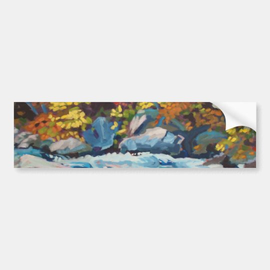 Autumn River Painting Bumper Sticker